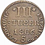 3 Stuber - Joseph Maximilian IV – reverse