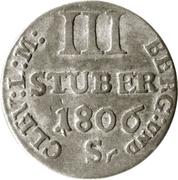 3 Stüber - Joachim Murat -  reverse