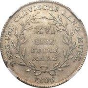 1 Reichsthaler - Joachim Murat – reverse