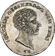 1 Thaler - Joachim Murat (Cassataler) – obverse
