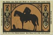 25 Pfennig (Silhouette Series) – reverse