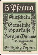 5 Pfennig (Gemeinde-Sparkasse) – obverse