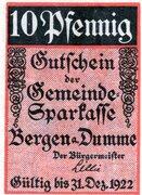 10 Pfennig (Gemeinde-Sparkasse) – obverse