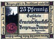 25 Pfennig (Gemeinde-Sparkasse) – obverse