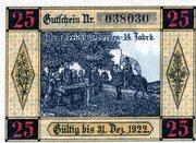 25 Pfennig (Gemeinde-Sparkasse) – reverse