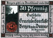 50 Pfennig (Gemeinde-Sparkasse) – obverse