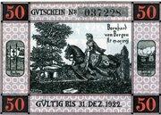 50 Pfennig (Gemeinde-Sparkasse) – reverse