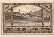20 Heller (Bergheim) – reverse