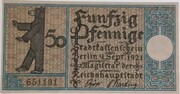 50 Pfennig (Berlin; Districts Series - Issue 12: Steglitz) – obverse