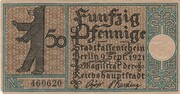 50 Pfennig (Berlin; Districts Series - Issue 9: Wilmersdorf) – obverse