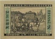 2 Mark (Straßenbahn Berlin; Issue 1 - Berliner Mietdroschke) – reverse