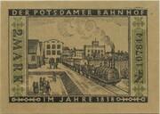 2 Mark (Straßenbahn Berlin; Issue 2 - Der Potsdamer Bahnhof) – reverse