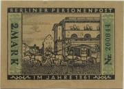 2 Mark (Straßenbahn Berlin; Issue 3 - Berliner Personenpost) – reverse