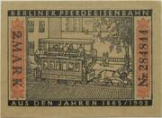 2 Mark (Straßenbahn Berlin; Issue 4 - Berliner Pferdeeisenbahn) – reverse