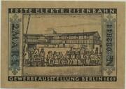2 Mark (Straßenbahn Berlin; Issue 5 - Erste elektr. Eisenbahn) – reverse