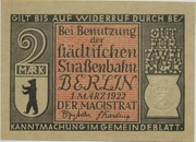 2 Mark (Straßenbahn Berlin; Issue 6 - Berliner Straßenlokomotive) – obverse