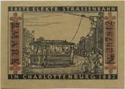 2 Mark (Straßenbahn Berlin; Issue 7 - Erste elektr. Straßenbahn) – reverse