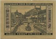 2 Mark (Straßenbahn Berlin; Issue 9 - Hochbahn über dem Landwehrkanal) – reverse