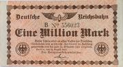 1 000 000 Mark (Berlin; Deutsche Reichsbahn) – obverse