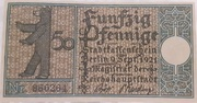 50 Pfennig (Berlin; Districts Series - Issue 8: Spandau) – obverse
