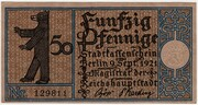 50 Pfennig (Berlin; Districts Series - Issue 1: Mitte) – obverse
