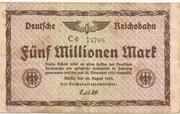 5,000,000 Mark (Berlin; Deutsche Reichsbahn) – obverse