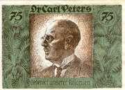 75 Pfennig (Berlin; Deutsch-Hanseatischer Kolonialgedenktag - B3: Carl Peters) – reverse