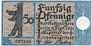 50 Pfennig (Berlin; Districts Series - Issue 11: Schöneberg) – obverse