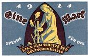 1 Mark (Berlin; Liga zum Schutze der Deutschen Kultur) – obverse