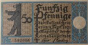 50 Pfennig (Berlin; Districts Series - Issue 5: Friedrichshain) – obverse