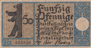 50 Pfennig (Berlin; Districts Series - Issue 2: Tiergarten) – obverse