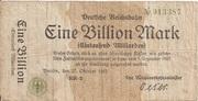 1,000,000,000,000 Mark (Berlin; Deutsche Reichsbahn) – obverse