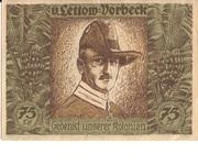 75 Pfennig (Berlin; Deutsch-Hanseatischer Kolonialgedenktag - B1: V. Lettow-Vorbeck) – reverse