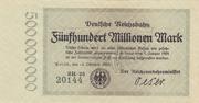 500,000,000 Mark (Berlin; Deutsche Reichsbahn) – obverse