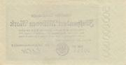 500,000,000 Mark (Berlin; Deutsche Reichsbahn) – reverse