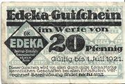 20 Pfennig (EDEKA) – obverse