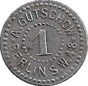 1 Pfennig - Berlin (A. Gutschow) – obverse