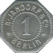 1 Pfennig - Berlin (A. Jandorf & Co.) – obverse