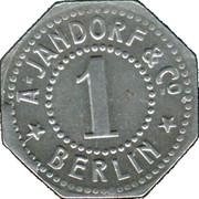 1 Pfennig - Berlin (A. Jandorf & Co.) – reverse