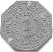 1 Pfennig - Berlin (Kaufhaus des Westens GmbH) – reverse