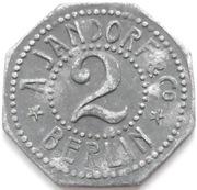 2 Pfennig - Berlin (A. Jandorf & Co.) – reverse