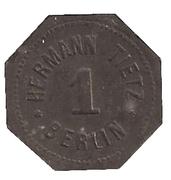 1 Pfennig - Berlin (H. Tietz) – reverse