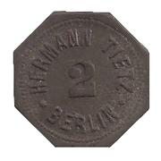 2 Pfennig - Berlin (H. Tietz) – reverse