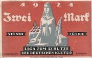 2 Mark (Berlin; Liga zum Schutze der Deutschen Kultur) – obverse