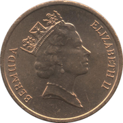 1 Cent - Elizabeth II (3rd portrait - Magnetic) – obverse