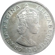 1 Crown - Elizabeth II (1st portrait) – obverse