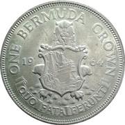 1 Crown - Elizabeth II (1st portrait) -  reverse