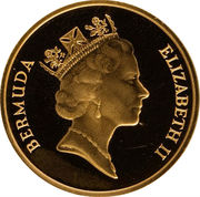 1 Cent - Elizabeth II (Gold Proof Issue) – obverse