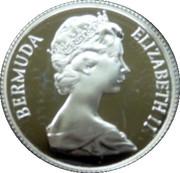 25 Cents - Elizabeth II (Bermudas; Silver Proof Issue) – obverse