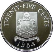 25 Cents - Elizabeth II (Bermudas; Silver Proof Issue) – reverse